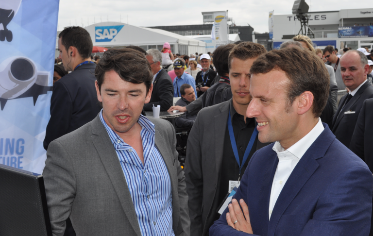 French Minister of Economy visits Safety Line at Paris Air Show 2015