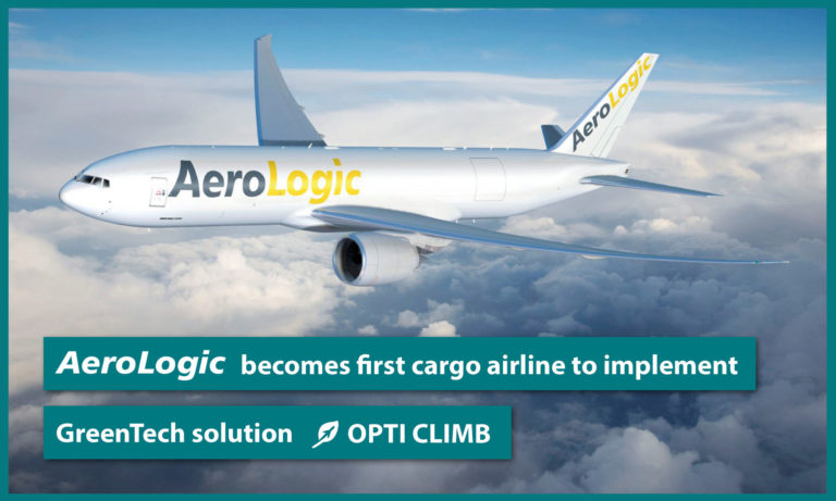AeroLogic brings digital innovation into the cockpit as first cargo airline to implement greentech solution OptiClimb