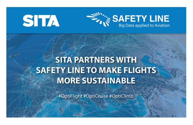 SITA partners with Safety Line to make flights more sustainable
